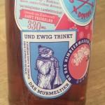 Und ewig trinkt das Murmeltier :)